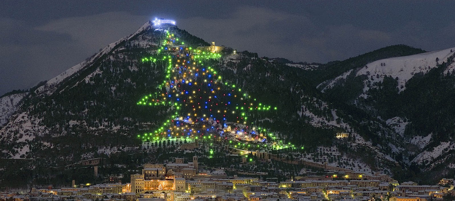Gubbio biggest Christmas tree