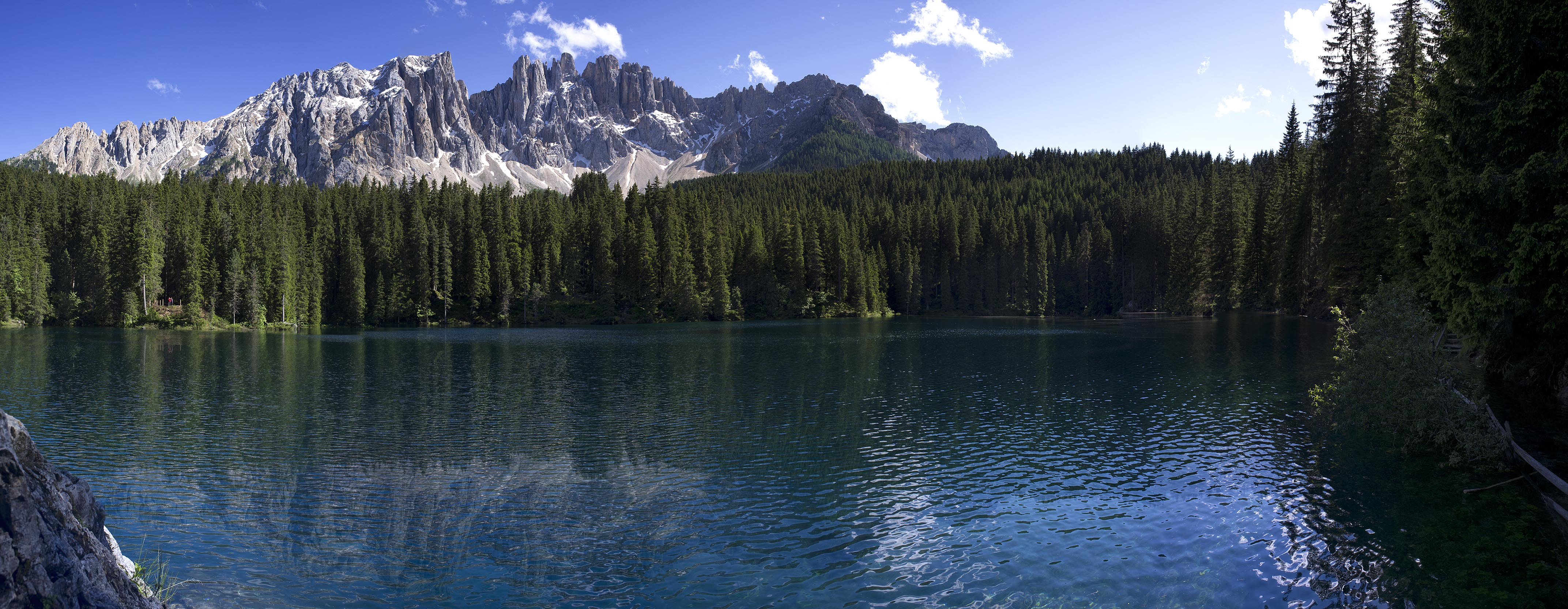 Lake of Carezza in the heart of Dolomites
