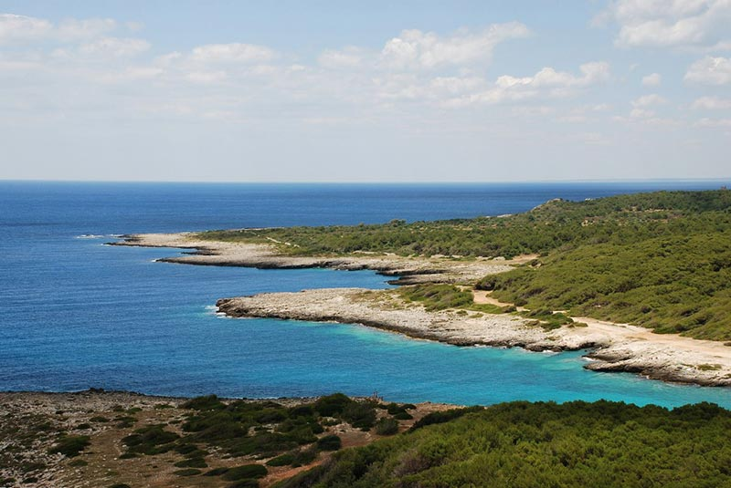 Porto Selvaggio bay in Salento