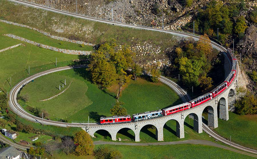 Bernina Express Switzerland to Valtellina